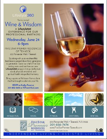 Wine and Wisdom to be held on June 24th