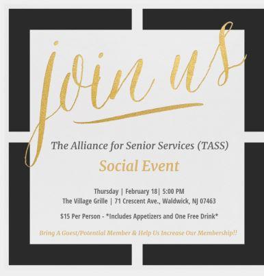 TASS social event Feb 18th