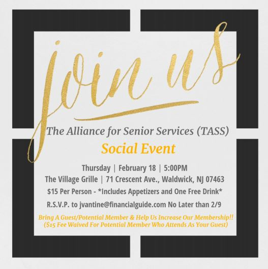 Join TASS for a social event on Feb 18th