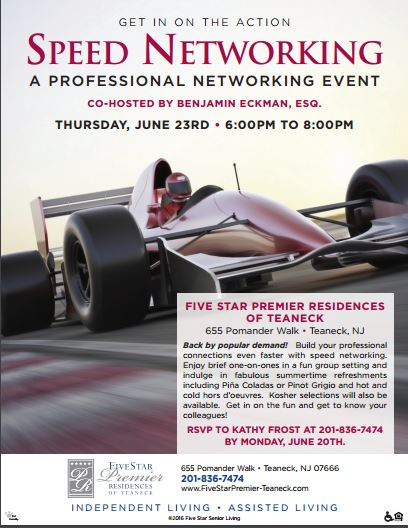 Speed Networking event June 23rd