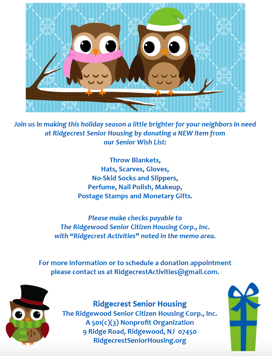 TASS supporting Ridgecrest Senior Housing with donations