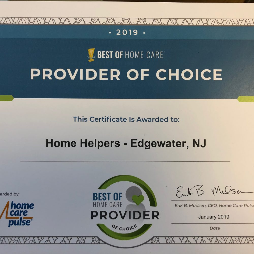 Home Helpers achieves Provider of Choice recognition